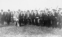 John Redmond, of the Irish Parliamentary Party, Inspecting the National Volunteers. HU55928.jpg
