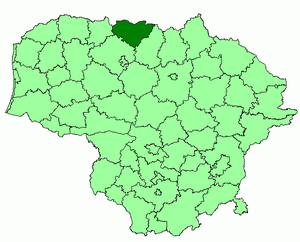 Joniškis District Municipality - Image: Joniskis district location