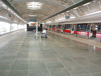 East West MRT Line - Joo Koon Station, before the installation of half-platform screen doors
