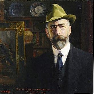 José Benlliure y Gil - Jose Benlliure y Gil self-portrait