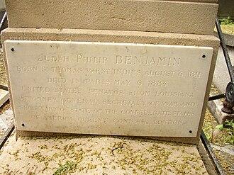 Judah P. Benjamin - Benjamin's grave at Père Lachaise Cemetery in Paris
