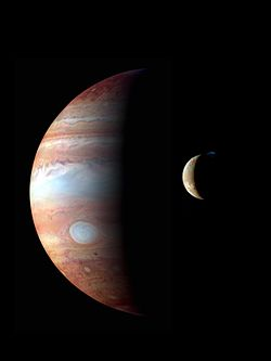 New Horizons infrared photo of Jupiter and Io