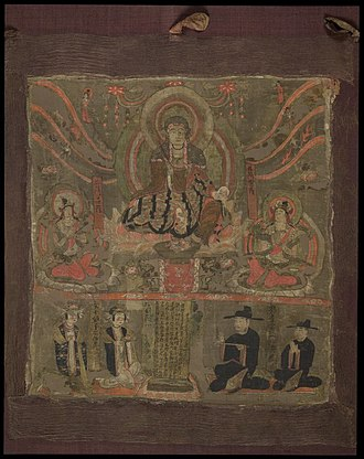 Kṣitigarbha - Painting of Kṣitigarbha as the Lord of the Six Ways from Mogao Grottoes in Dunhuang