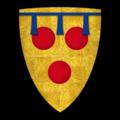 """K-042-Coat of Arms-COURTENAY-Hugh de Courtenay (""""Huë de Courtenay"""").png"""