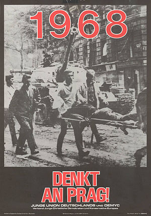 Prague Spring - Prague Spring of 1968 poster by the Young Union.