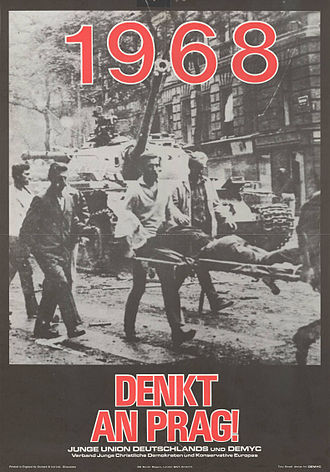 Prague Spring - Prague Spring of 1968 poster by the Young Union