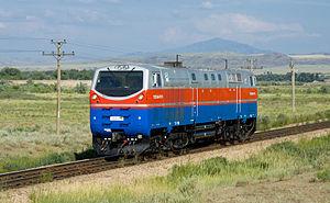 Kazakhstan Temir Zholy - Image: KTZ TE33A portrait