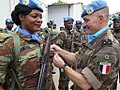 Kalemie, Province of Tanganyika, DR Congo Medal ceremony for 450 peacekeepers of Benin including 21 women (31835427553).jpg