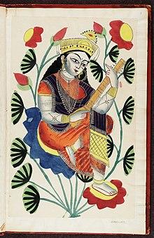 Kalighat Pictures Indian Gods God Murugan Painting