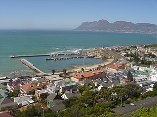 Kalk Bay. Simon's Town in the distance.