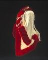 Kappa av mönstrat vitt siden, s.k. burnus, ca 1887 - Livrustkammaren - 38814.tif