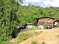 A Karen village in Thailand.