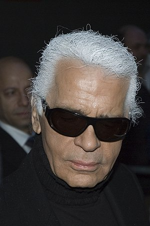 Karl Lagerfeld. Arrival for the press conferen...