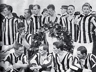 1909 German football championship - The Phönix Karlsruhe team that won the 1909 final