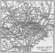 Mapa alemán de Washington D. C (1888)