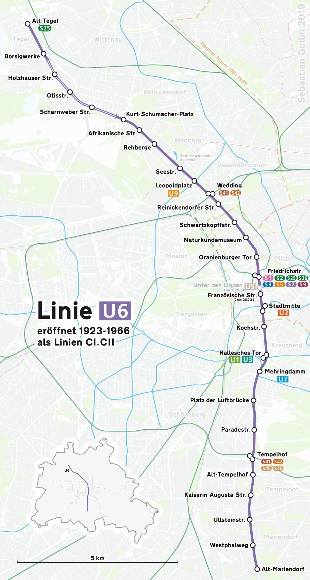 Karte Berlin Lichtenrade.U Bahn Linie 6 Berlin Wikipedia