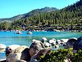 Kayaks on Sand Harbor, Lake Tahoe 9-10 (29211162982).jpg