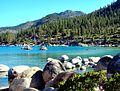 Kayaks on Sand Harbor, Lake Tahoe 9-10 (29211162982).jpg