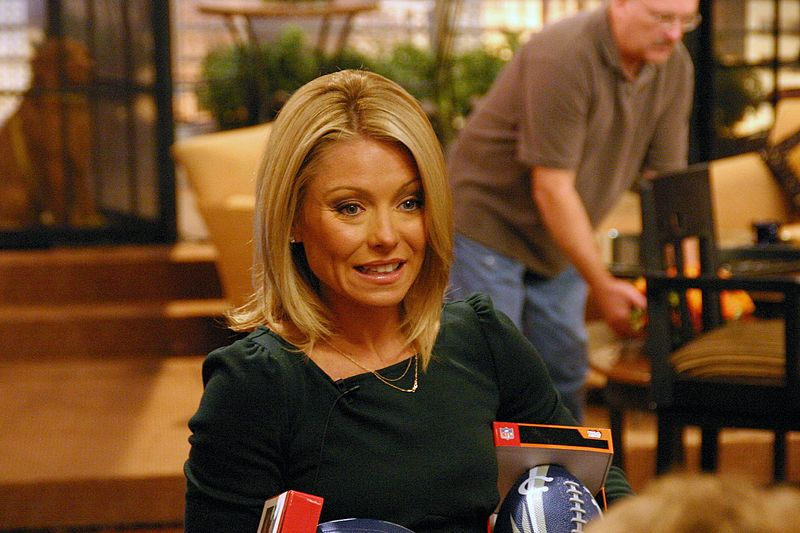 File:Kelly Ripa by Keith Wills.jpg Description Actress/daytime talk show host Kelly Ripa on the set of Live with Regis and Kelly Date 3 October 2006, 06:21:48 Source originally posted to Flickr as Kelly Ripa Author Keith Wills Permission (Reusing this file)  Checked copyright icon.svg This image, which was originally posted to Flickr, was uploaded to Commons using Flickr upload bot on 29 June 2008, 23:33 by Tabercil. On that date, it was confirmed to be licensed under the terms of the license indicated.