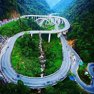 West Sumatra - Kelok Sembilan bridge