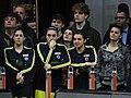 Kelsey Plum, Ayşe Cora, Pelin Bilgiç and Birsel Vardarlı Fenerbahçe Men's Basketball vs Galatasaray Men's Basketball TSL 20180304 (2).jpg