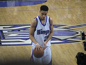 Sacramento Kings - Kevin Martin shoots a free throw at a Kings home game.