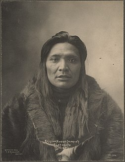 Kicking Horse, chef salish.Photographié par Frank Rinehart en 1899.
