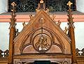 Kierch Diddeleng, Beichtstull Kartusch-102.jpg