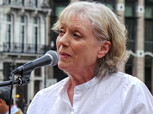 Kika Markham - Kika Markham speaking at the No More War event in 2014