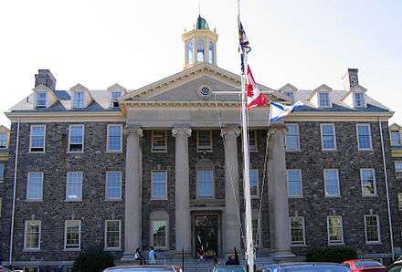 The University of King's College is the oldest university in Nova Scotia. Kings College.jpg