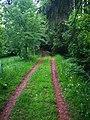 Klášterská Lhota, cesta od železniční zastávky ke hřbitovu.jpg