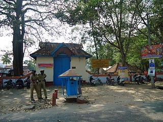 Vyttila neighbourhood in Ernakulam, Kerala, India