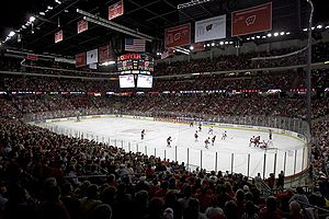 Men's hockey game played at the Kohl Center