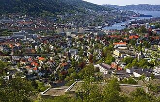 Kronstad, Bergen - North-eastern Kronstad (foreground)