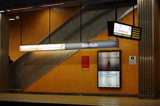 Botanique/Kruidtuin metro station metro station in Brussels, Belgium