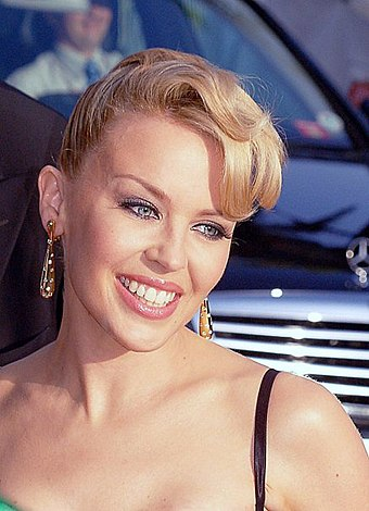 "Australian singer Kylie Minogue has been referred to as the ""Princess of Pop"". Kylie Minogue Cannes.jpg"