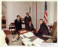 LBJ with diplomats 1963.jpg