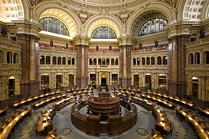 Library of Congress - Main reading room at the Library of Congress