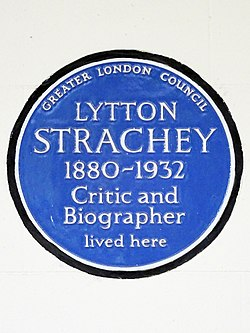 Lytton strachey 1880 1932 critic and biographer lived here