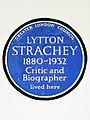 LYTTON STRACHEY 1880-1932 Critic and Biographer lived here.jpg