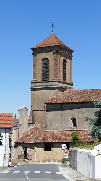Our Lady of the Assumption's church in La Bastide-Clairence (Pyrénées-Atlantiques, Aquitaine, France).