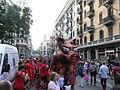 La Caixa - Correfoc infantil i preparatius del correfoc gran - Porca de Sant Antoni P1160744.JPG
