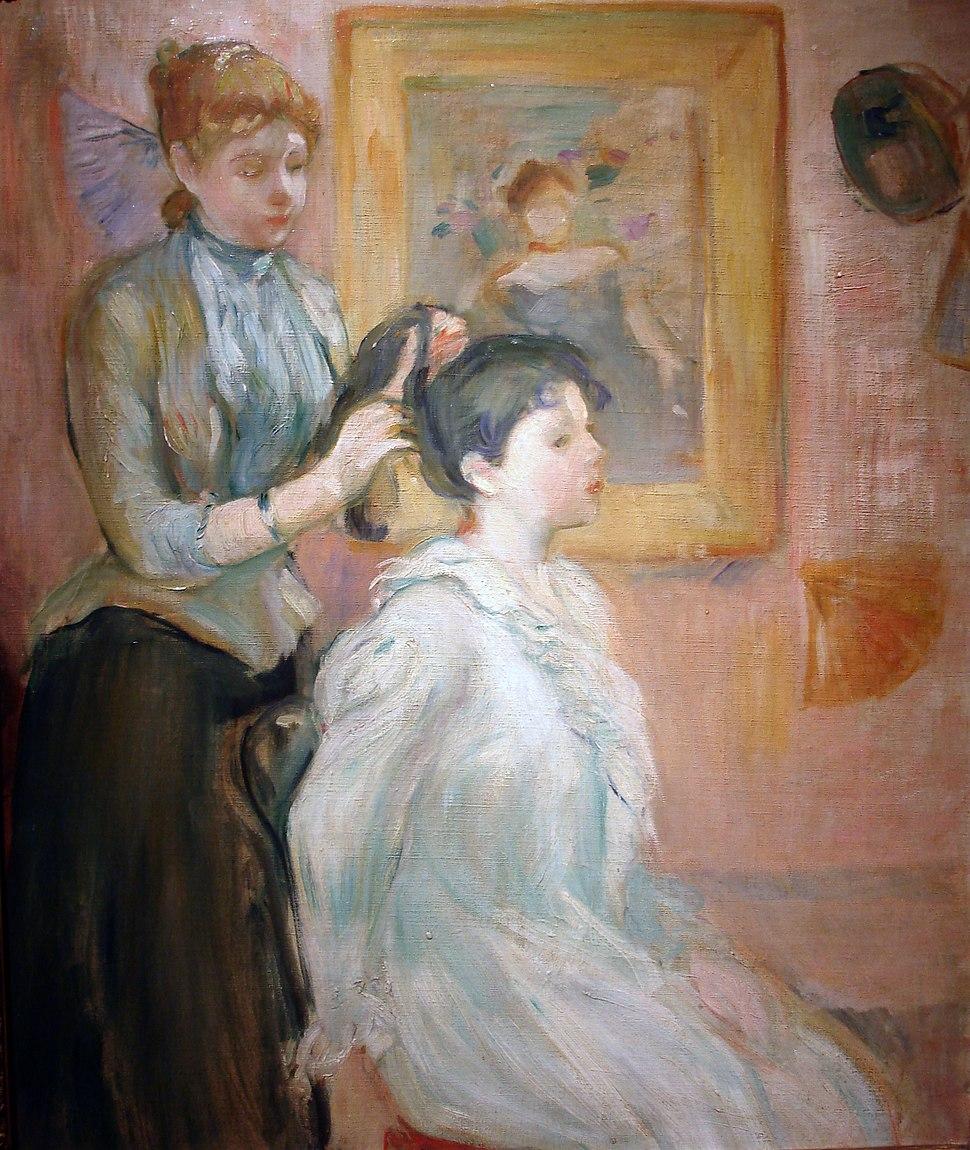 La Coiffure - Berthe Morisot