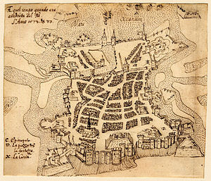 Siege of La Rochelle (1572–73) - La Rochelle at the time of the 1572–1573 siege