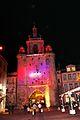 La Tour de la Grosse Horloge illuminée, Noël 2009 (4).JPG