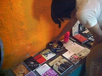 Ladyfest - A zine/CD stall at a Ladyfest