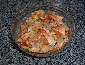Laetiporus sulphureus - Laetiporus sulphureus prepared dish