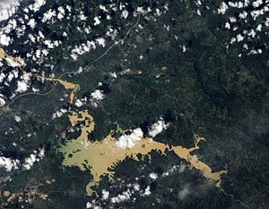 Alajuela Lake - Natural-colour satellite image of Lake Alajuela
