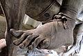 Lamoureux' statue af Christian V (detalje af fod).JPG