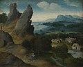 Landschap met de vlucht naar Egypte, Joachim Patinir, (1516-1517), Koninklijk Museum voor Schone Kunsten Antwerpen, 64.jpg